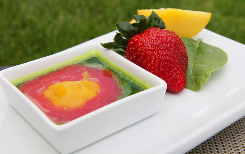 Peachy Strawberry Salad