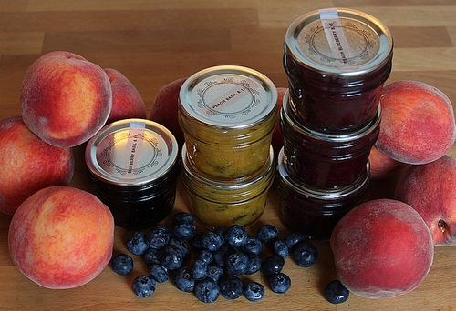 Peachandblueberryjams